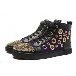 Christian Louboutin Baskets Homme Bubble Spike Multi Eclipse Noir Or
