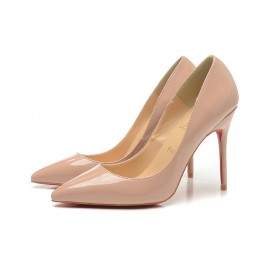Nouvel Christian Louboutin 100mm Escarpins Femmes Decollete 554 Vernis Nude