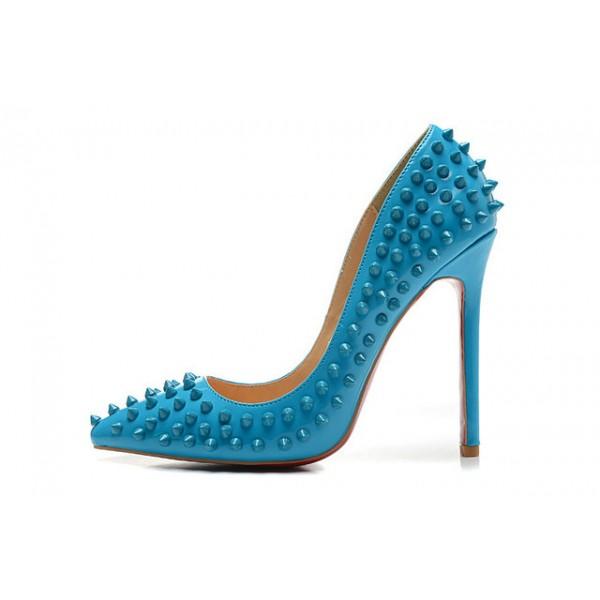 escarpins femme louboutin bleu