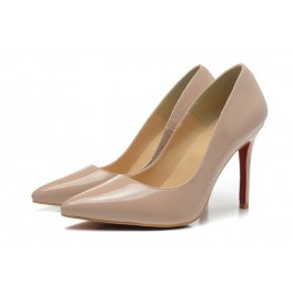 Escarpins Christian Louboutin Decollete 554 Vernis 100mm Dune