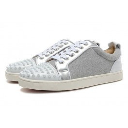taille 40 cbd03 a323c Baskets Christian Louboutin Homme Femme Chaussures Daim Gris ...