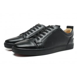 Chaussures Couple Baskets Christian Louboutin Cuir Noire