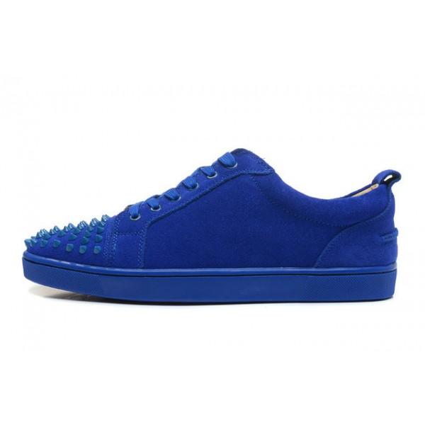 basket louboutin bleu femme