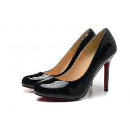 Femme Escarpins Christian Louboutin Simple Pump Vernis 100mm Noir