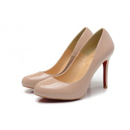 Femme Escarpins Christian Louboutin Simple Pump Vernis 100mm Dune