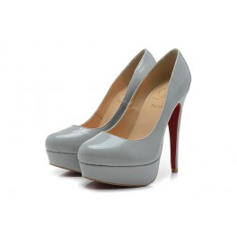 Christian Louboutin 140mm Plates-formes Bianca Vernis Gris