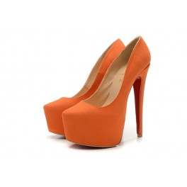 Christian Louboutin Daffodile 160mm Veau Velours Orange