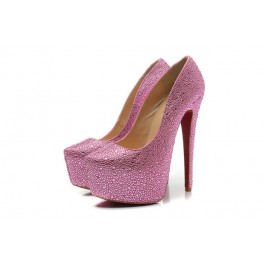 Christian Louboutin Daffodile Strass 160mm Rose