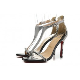 Sandales Christian Louboutin 100mm Femme Gris Serpentine