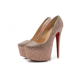 Christian Louboutin Pompe Daffodile Strass 160mm Rose