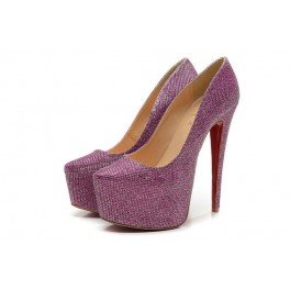 Christian Louboutin Daffodile Strass 160mm Violet