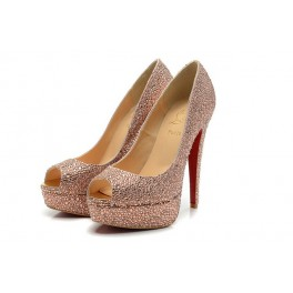 Christian Louboutin Toe Escarpins Strass 160mm Rose