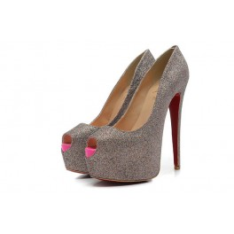 Christian Louboutin Toe Escarpins 160mm Gris