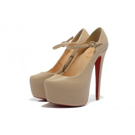 Christian Louboutin Mary Jane Pompe 160mm Plates-formes Beige