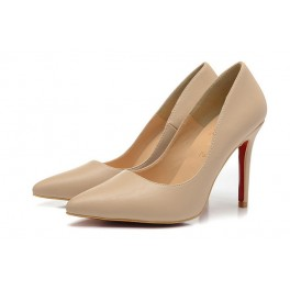 Christian Louboutin 100mm Pigalle Kid Escarpins Chevreau Nude