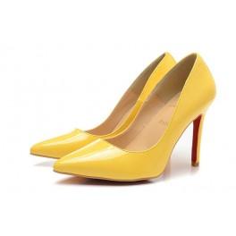 escarpin jaune louboutin