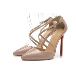 Christian Louboutin 120mm Pigalle Vernis Femme Nude