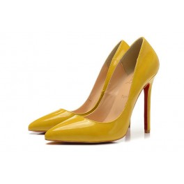 Nouvelles Escarpins Christian Louboutin 120mm So Kate Vernis Jaune