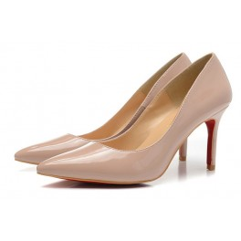 Sexy pigalle vernis Christian Louboutin Escarpins 80mm dune