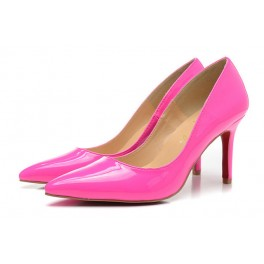 Sexy Chaussures Christian Louboutin Escarpins 80mm pigalle vernis rose