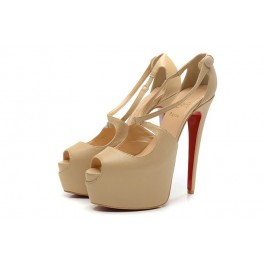 Christian Louboutin 160mm Sandale Cross Me Toe Escarpins Beige