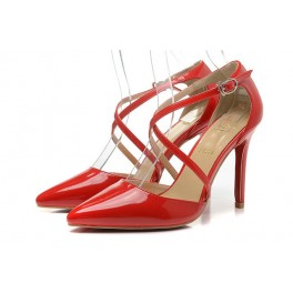 Christian Louboutin 120mm Pigalle Vernis Rouge Femme