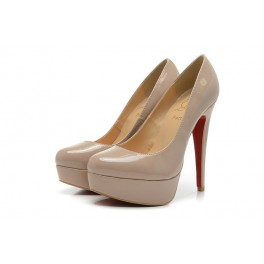 Christian Louboutin 140mm Plates-formes Bianca Vernis Beige